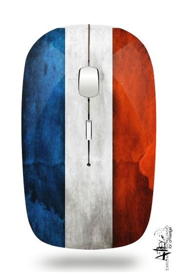 Flag France Vintage for Wireless optical mouse with usb receiver