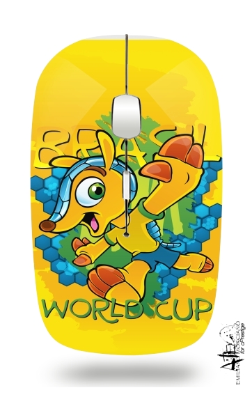 Fuleco Brasil 2014 World Cup 01 for Wireless optical mouse with usb receiver