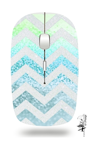 FUNKY CHEVRON BLUE for Wireless optical mouse with usb receiver