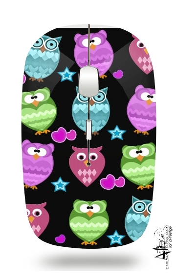 funky owls for Wireless optical mouse with usb receiver