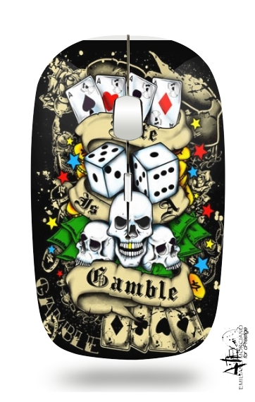 Love Gamble And Poker for Wireless optical mouse with usb receiver