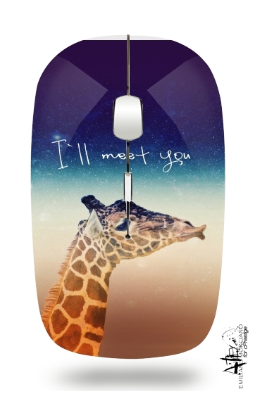 Giraffe Love - Left for Wireless optical mouse with usb receiver