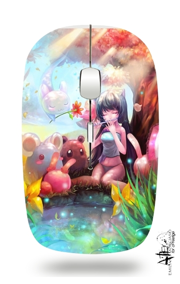 Manga charmer girl for Wireless optical mouse with usb receiver