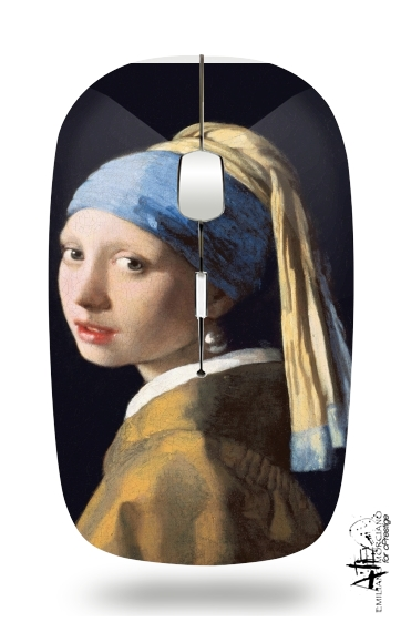 Girl with a Pearl Earring for Wireless optical mouse with usb receiver