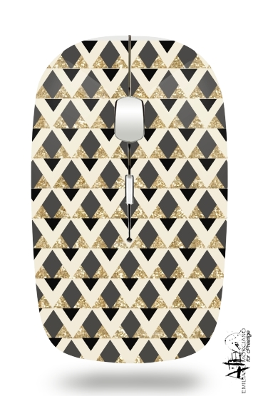Glitter Triangles in Gold Black And Nude for Wireless optical mouse with usb receiver