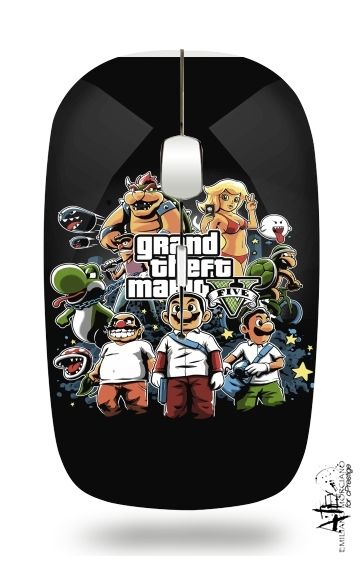 Grand Theft Mario for Wireless optical mouse with usb receiver