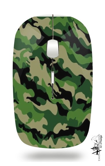 Green Military camouflage for Wireless optical mouse with usb receiver