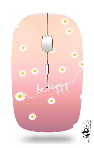 HAPPY DAISY SUNRISE for Wireless optical mouse with usb receiver
