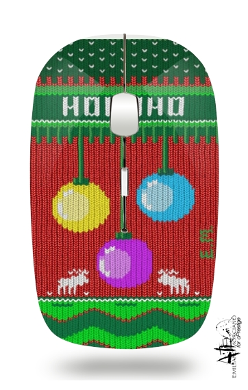 Hohoho Chrstimas design for Wireless optical mouse with usb receiver