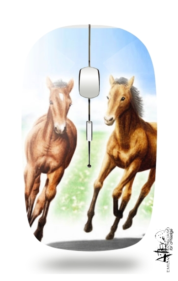 Horse And Mare for Wireless optical mouse with usb receiver