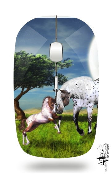 Horses Love Forever for Wireless optical mouse with usb receiver
