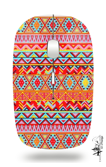 India Style Pattern (Multicolor) for Wireless optical mouse with usb receiver