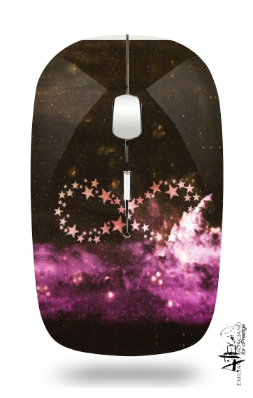 Infinity Stars purple for Wireless optical mouse with usb receiver