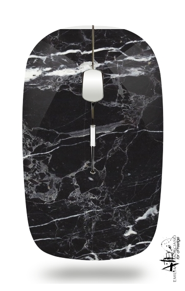 Initiale Marble Black Elegance for Wireless optical mouse with usb receiver