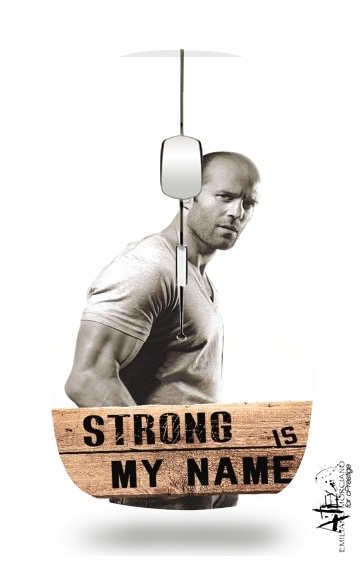 Jason statham Strong is my name for Wireless optical mouse with usb receiver