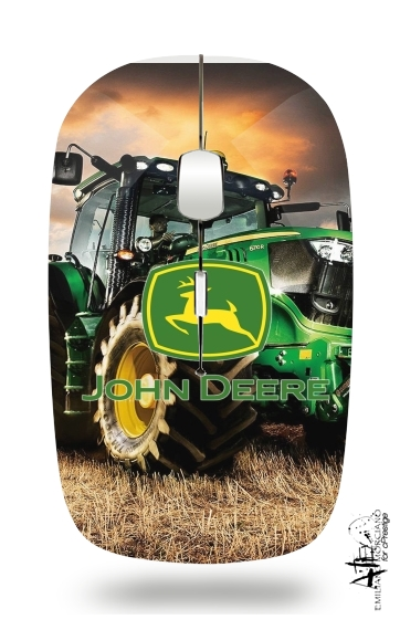 John Deer tractor Farm for Wireless optical mouse with usb receiver