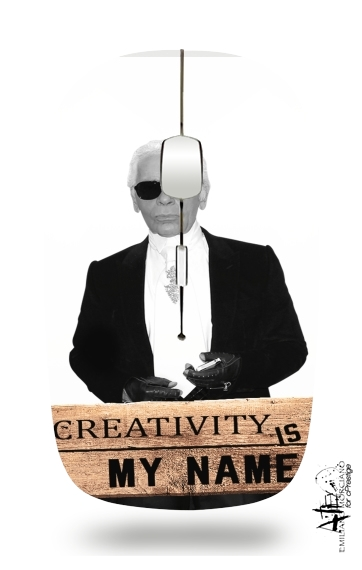 Karl Lagerfeld Creativity is my name for Wireless optical mouse with usb receiver