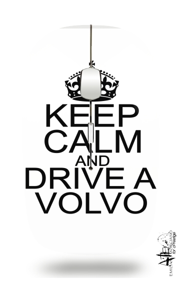Keep Calm And Drive a Volvo for Wireless optical mouse with usb receiver