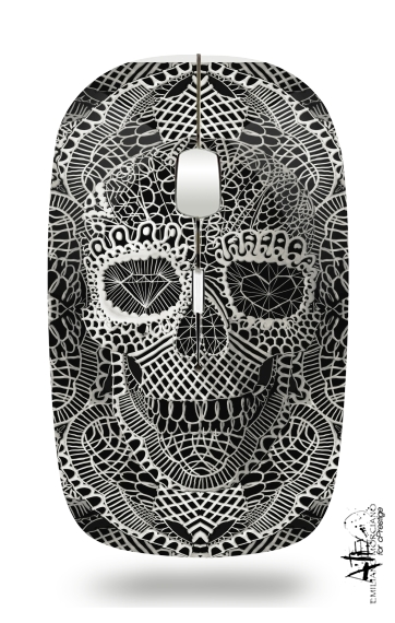 Lace Skull for Wireless optical mouse with usb receiver