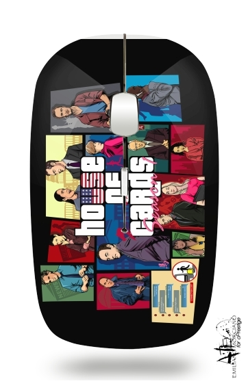 Mashup GTA and House of Cards for Wireless optical mouse with usb receiver