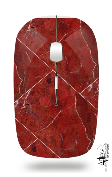 Minimal Marble Red for Wireless optical mouse with usb receiver