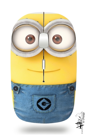 Minions Face for Wireless optical mouse with usb receiver