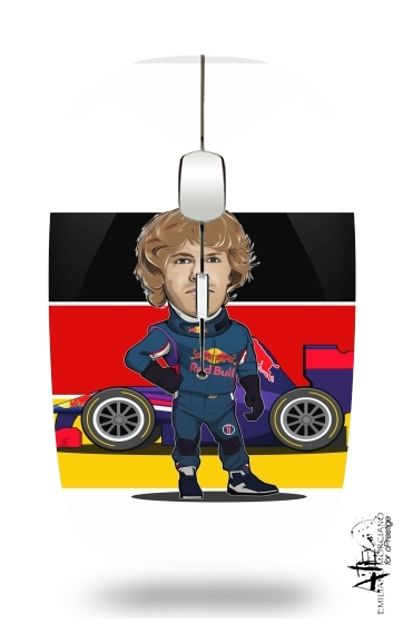 MiniRacers: Sebastian Vettel - Red Bull Racing Team for Wireless optical mouse with usb receiver