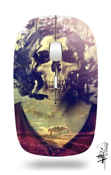 Miss Skull for Wireless optical mouse with usb receiver