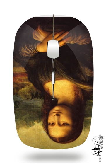 Mona Lisa for Wireless optical mouse with usb receiver