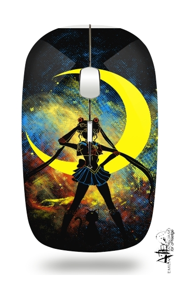 Moon Art for Wireless optical mouse with usb receiver