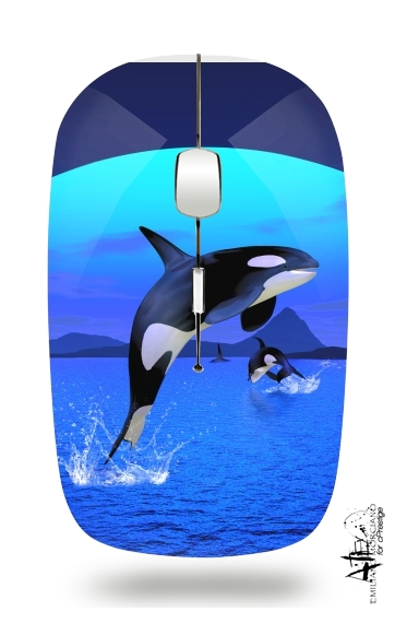 Orca Whale for Wireless optical mouse with usb receiver