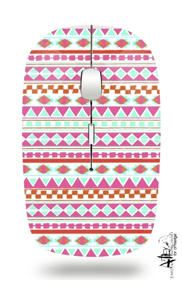 PINK NAVAJO for Wireless optical mouse with usb receiver
