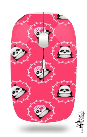 Pink Panda for Wireless optical mouse with usb receiver