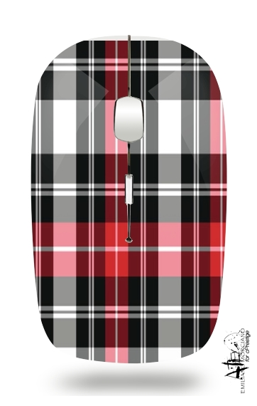 Red Plaid for Wireless optical mouse with usb receiver