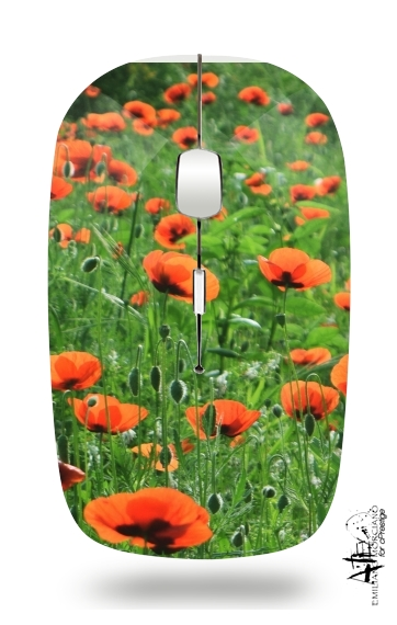 POPPY FIELD for Wireless optical mouse with usb receiver