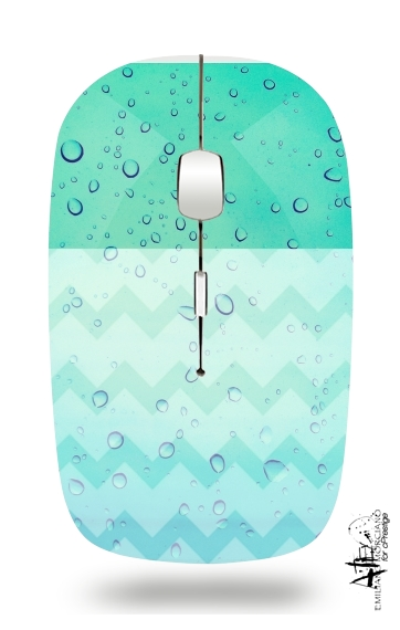 Rainy Day Blues for Wireless optical mouse with usb receiver