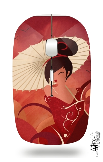 Sakura Asian Geisha for Wireless optical mouse with usb receiver