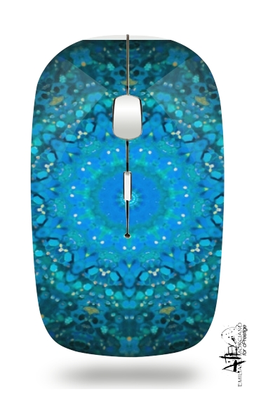 SEAFOAM BLUE for Wireless optical mouse with usb receiver