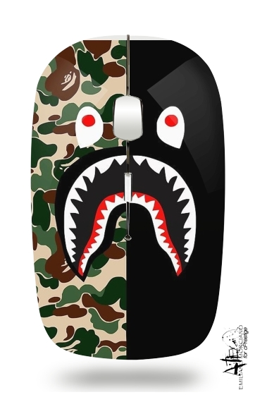 Shark Bape Camo Military Bicolor for Wireless optical mouse with usb receiver