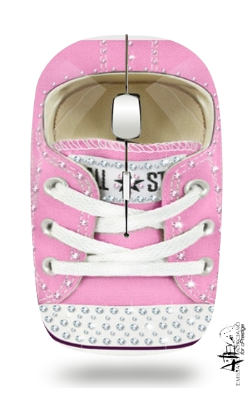 All Star Basket shoes Pink Diamonds for Wireless optical mouse with usb receiver