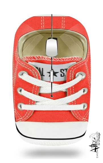 All Star Basket shoes red for Wireless optical mouse with usb receiver