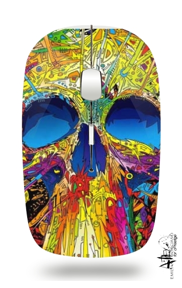 Color Skull Flashy for Wireless optical mouse with usb receiver