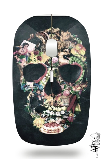 Skull Vintage for Wireless optical mouse with usb receiver