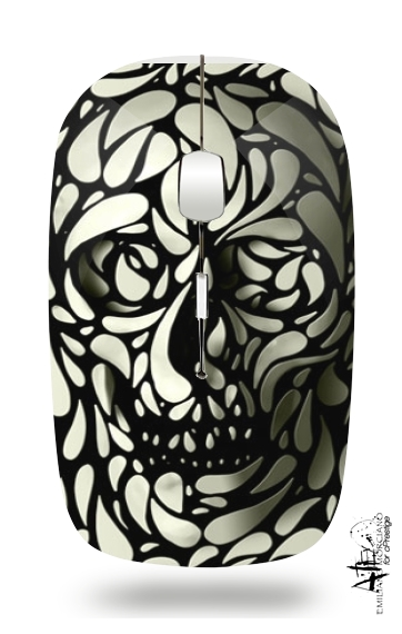 Skull Zebra White And Black for Wireless optical mouse with usb receiver