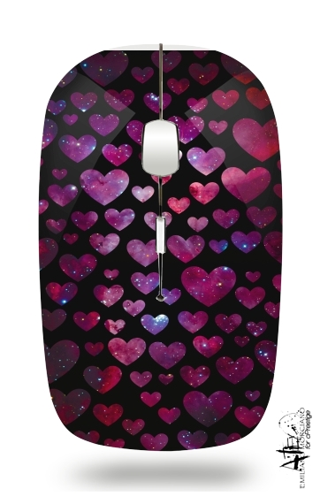 Space Hearts for Wireless optical mouse with usb receiver