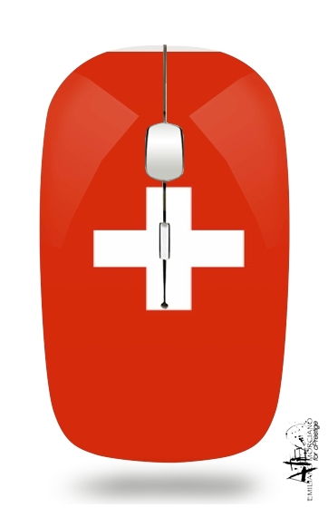 Switzerland Flag for Wireless optical mouse with usb receiver