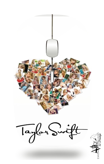 Taylor Swift Love Fan Collage signature for Wireless optical mouse with usb receiver