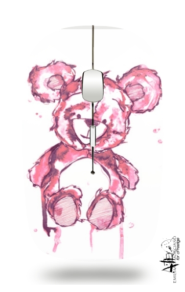 Pink Teddy Bear for Wireless optical mouse with usb receiver
