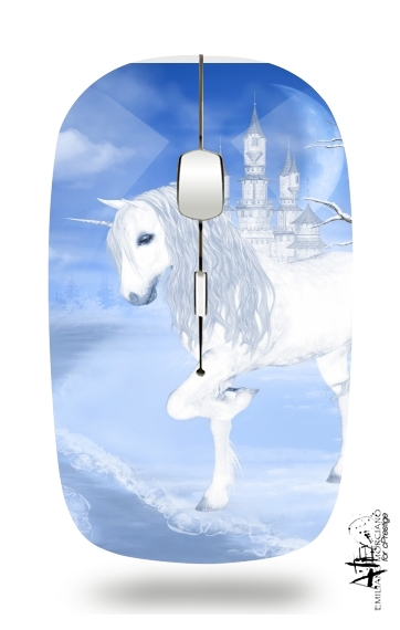 The White Unicorn for Wireless optical mouse with usb receiver