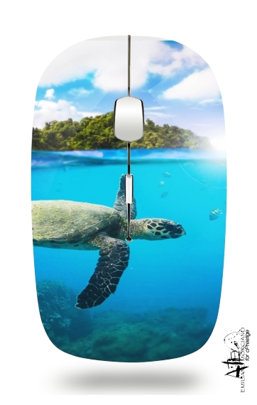 Tropical Paradise for Wireless optical mouse with usb receiver